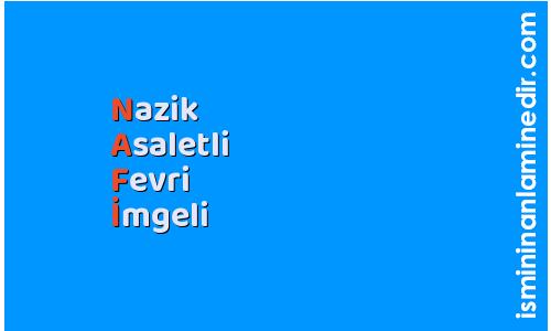 Nafi isminin anlamı